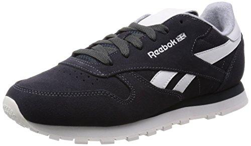 Reebok Cl Leather Suede - Zapatillas para Mujer, Color Negro (Gravel/Chalk), Talla 35.5