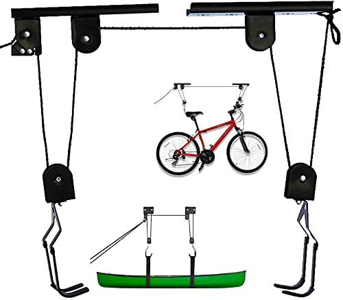 Soporte Bicicleta Suspensión de 57 kg de Carga, Elevador de Bicicletas, Colgar bicicleta techo,...*