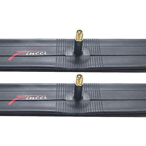 Fincci Par 20 x 1,75 1,95 2,0 2,1 2,125 Pulgadas 48mm Cámaras de Aire Schrader Válvula Interior para BMX MTB Montaña Fuera del Camino o Niños Bici Bicicleta (Paquete de 2)