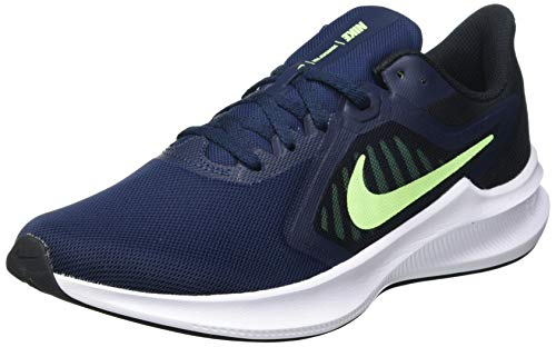 Nike Downshifter 10, Running Shoe Hombre, Obsidian/Lime Glow-Black, 42.5 EU