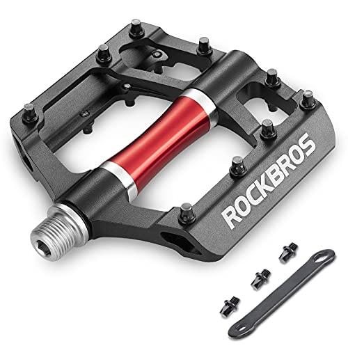ROCKBROS Pedales Bicicleta Montaña MTB Carretera de Aleación Aluminio Gran Plataforma Rodamiento...*