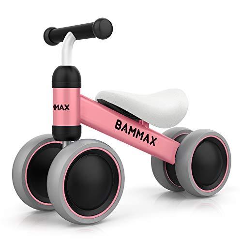 Bammax Bicicleta sin Pedales, Bici sin Pedales Niño, Juguetes Bebes 1 Año, Triciclos Bebes, Correpasillos Bebes 1 Año, Rosa