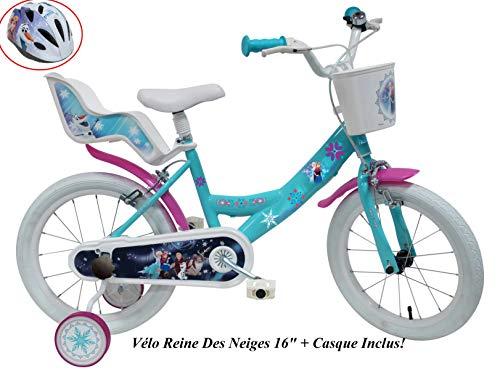 Disney Velo 16' Fille Frozen 2 Freins Porte Poupee Ar + Casque Bicicleta Infantil, Niños, Multicolor, 16''