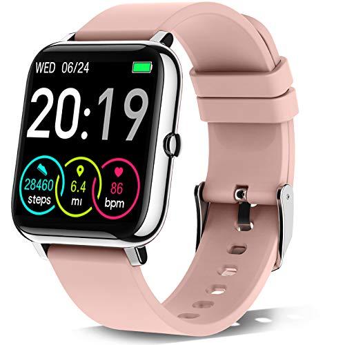 Rinsmola Smartwatch, Reloj Inteligente Mujer de Pantalla Táctil, Pulsera Actividad Inteligente con...*