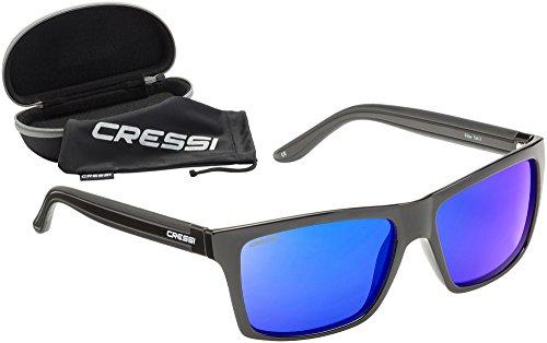 Cressi Rio Sunglasses Gafas de Sol Deportivo Polarizados, Unisex Adultos, Negro/Azul, Talla única*