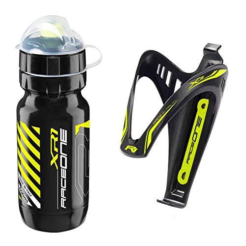 Raceone - Kit Race Duo X3 (2 PCS): Porta Bidon X3 + Bidon de Ciclismo XR1 Bici Carrera de...*