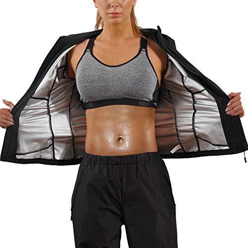 Bingrong Cortavientos Mujer Running Transpirable Chaqueta Deportiva Mujer Abrigos Impermeable Running Traje Sudoracion para Fitness