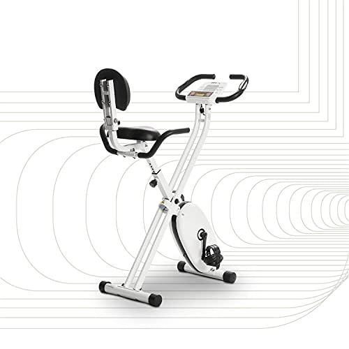 SportPlus SP-HT-1004-iE Bicicleta Estática Plegable con Control de Aplicaciones, Google Street View, Sillín Confortable, Manillar, 8-24 Niveles de Resistencia, Multicolor, 83 x 45 x 111 cm