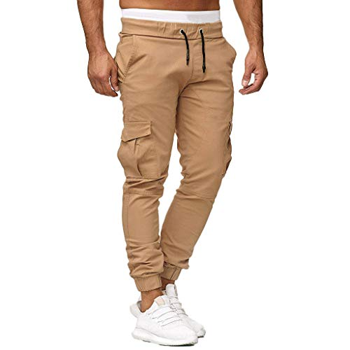 Pantalones Hombre Casuales Moda Color sólido Deportivos Running Pants Jogging Pantalon Fitness Gym Slim Fit Pantalones Largos Pantalones Ropa de Hombre Pantalones de Trekking vpass