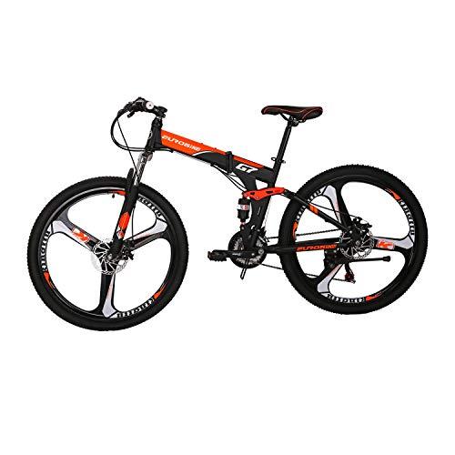 Bicicleta de Montaña Marco de Acero Plegable Bicicleta de Montaña G7 27.5 pulgadas Full_...*