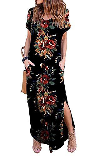 Vestidos Mujer Casual Playa Largos Verano Floral Vestido Boho Hendidura Falda Larga Maxi Vestido...*