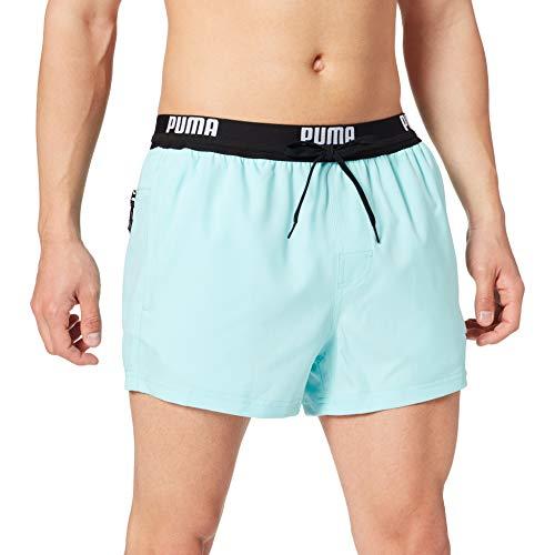 PUMA Logo Men's Short Length Swimming Shorts Swim Trunks, Ángel Azul, L para Hombre