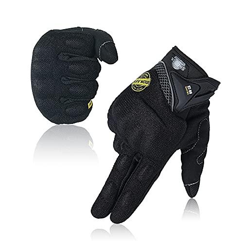 Guantes de Moto, Dedo Completo Guantes de Moto con Pantalla Táctil Guantes de Nudillos