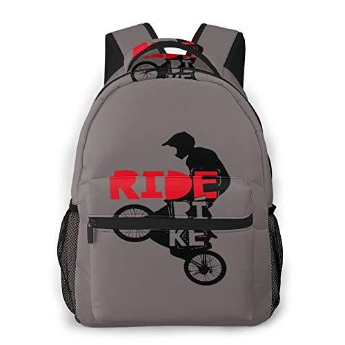 Mochila de viaje para computadora portátil,diseño fresco de BMX,bicicleta de paseo para hombres y niños,regalo de BMX,regalo de bicicleta,mochila de día antirrobo resistente al agua para empresas,