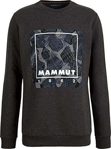 Mammut Pull Sudadera de Capa Intermedia, Negro Mezclado, L para Hombre*