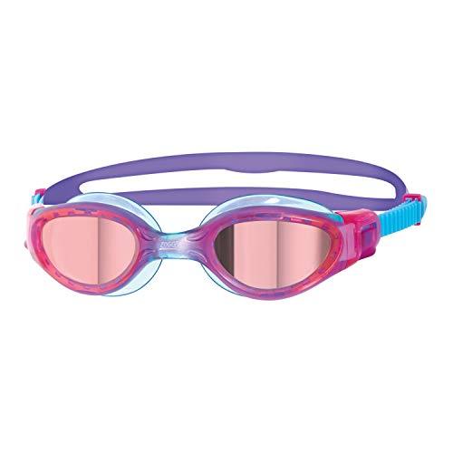 Zoggs Phantom Elite Mirror Gafas de natación, Unisex-Youth, Rosa/Morado/Espejo, 6-14 años
