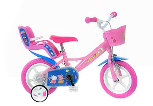 Dino Bikes 124rl-pig Peppa Pig Bicycle, Pink, Inch, Bicicleta, Unisex niños, Rosa, 12 Pulgadas*