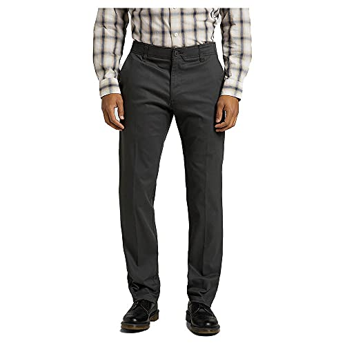 Lee Extreme Motion Chino Pantalones, Gris Oscuro, 34W x 32L para Hombre*