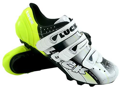 Luck Extreme 3.0 MTB Zapatillas de Ciclismo, Adultos Unisex, Amarillo, 40 EU