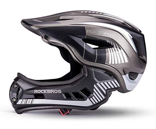 ROCKBROS Casco Integral para Niños de Bicicleta MTB BMX Casco Desmontable Ajustable 48-58CM para...*