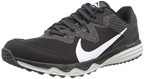 Nike Juniper Trail, Zapatillas para Correr de Carretera Hombre, Black/White-DK Smoke Grey-Grey, 46 EU
