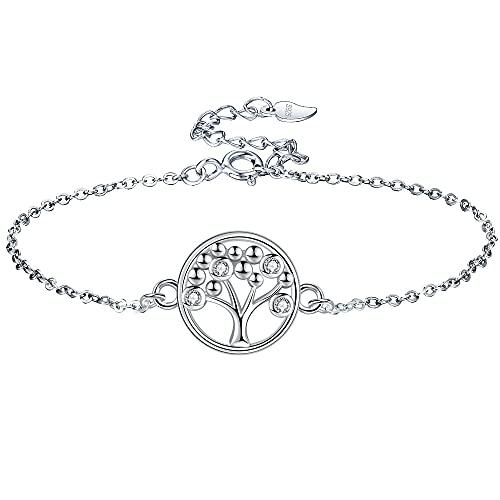 Lydreewam árbol de la Vida Pulsera para Mujer Plata de Ley 925 3A Circonita Cúbica con Caja de...*