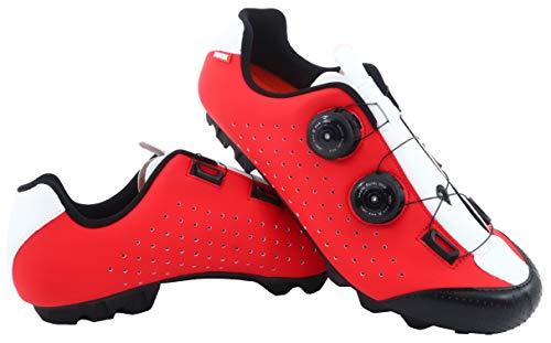 LUCK Zapatilla de Ciclismo MTB Eros con Doble Cierre rotativo de Alta precisión. (42 EU, Rojo)*