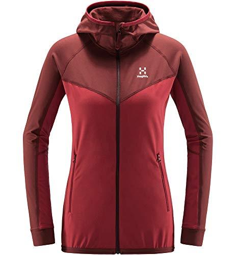 Haglöfs Lithe Hood Forro Polar, Mujer, Brick Red/Magnetite, XS