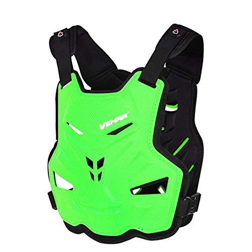 BIlinli Motocicleta Adulta Dirt Bike Body Armor Equipo de protección Pecho Protector de Espalda Chaleco de protección para Motocross Esquí Patinaje Snowboard