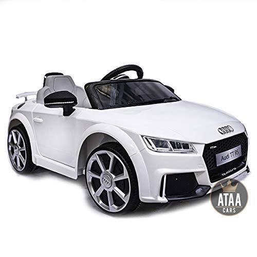 Audi TT RS 12v Licenciado con Mando - Coche eléctrico para niños - Blanco*