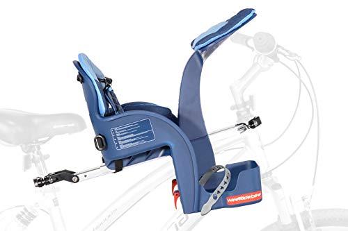 Weeride Safe Front Deluxe Sillita Infantil para Bicicleta, Bebé-Niños, Denim, 0