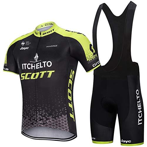 PGONE Verano ITCHELTO Scott Camiseta Ciclismo para Hombre Manga Corta Pro, Camiseta Ciclismo Al Aire...*