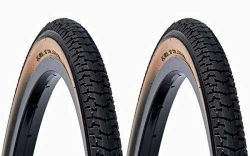 2X Cubierta Clasica DSI Color Negro Crema 700 28 1 1/2 40 635 Bicicleta 6314