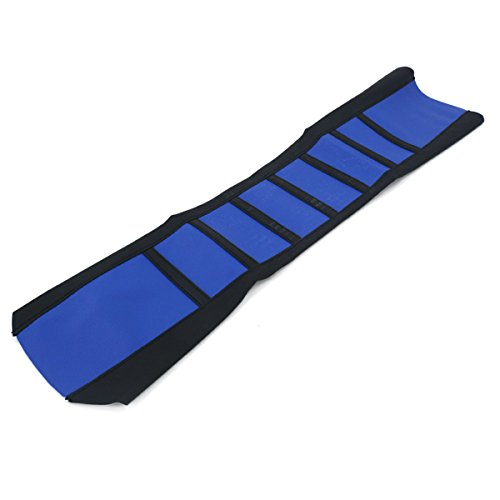 Alamor Universal Soft Gripper Funda De Asiento De Motocicleta Rib Skin Rubber Dirt Bike Enduro-Azul*