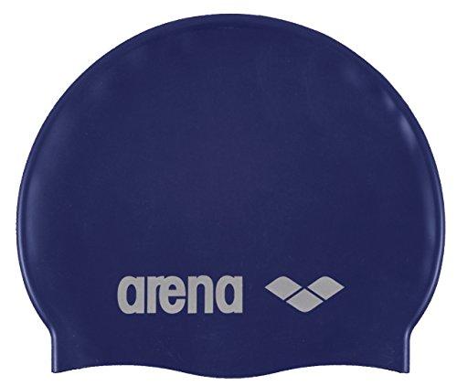 Arena Classic Gorro de Natación, Unisex Adulto, Azul (Denim/Silver), Talla Única*