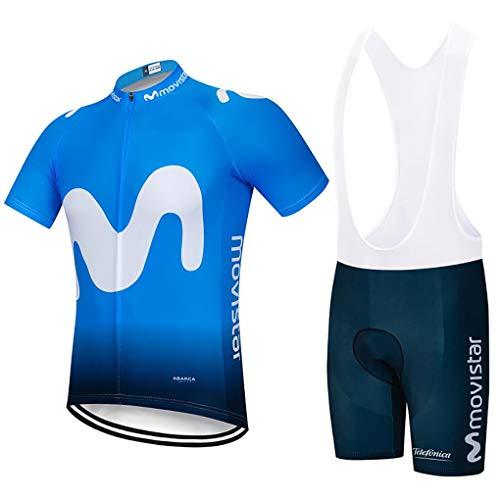 Moxilyn Ropa Ciclismo Hombre Traje de Bicicleta Ciclismo Conjunto para Verano Maillot Ciclismo Hombre+9D Gel Culotte Ciclismo