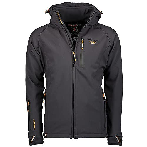 Geographical Norway TABOO MEN - Chaqueta Softshell Impermeable Hombre - Capucha Transpirable...*