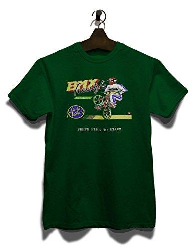 shirtminister BMX Freestyle T-Shirt Dunkelgruen-Dark-Green L*