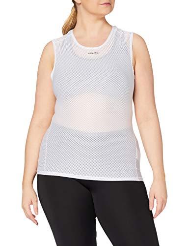 Craft Cool Mesh Camiseta Interior, Mujer, White, S