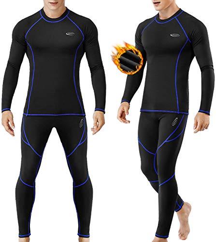Ropa Interior Térmica Hombre, Camiseta Térmica Hombre Deportes Ropa Interior Funcional Conjuntos...*