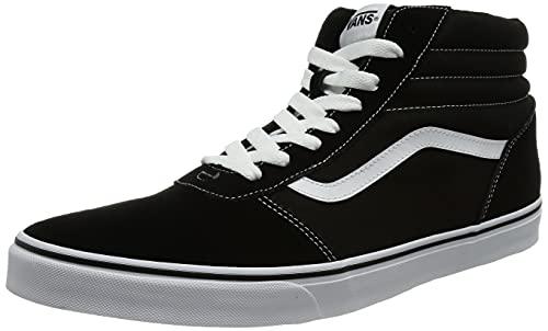 Vans Ward Hi, Sneaker Hombre, Negro (Suede/Canvas) Black/White C4R, 44.5 EU