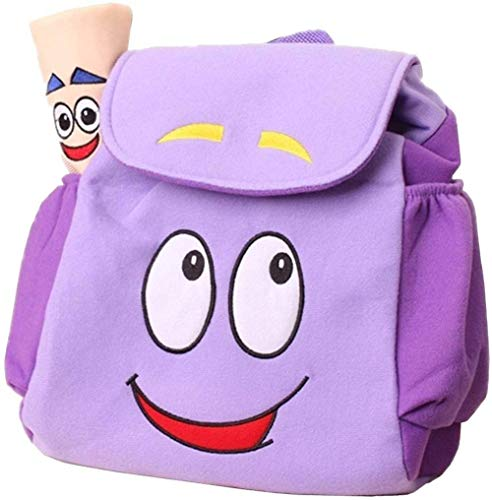 ANNIUP Mochila Explorer Mochila de rescate con mapa, mochila pre-kindergarten púrpura