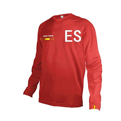 UGLY FROG Motocross/MTB/Downhill/Bike Shirt Camisa para Hombres - Element Colorear Ciclismo Maillots Múltiples Estilos Manga Larga Top