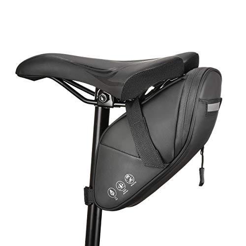 CCKOLE – Alforjas para sillín de bicicleta con reflectantes, bolsa para bicicleta trasera resistente al agua, asiento multifuncional resistente a roturas, bolsa para bicicleta de montaña