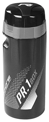 RaceOne PR1-BOX, Bidón de ciclismo, 600 ml, Negro (Negro/Blanco)