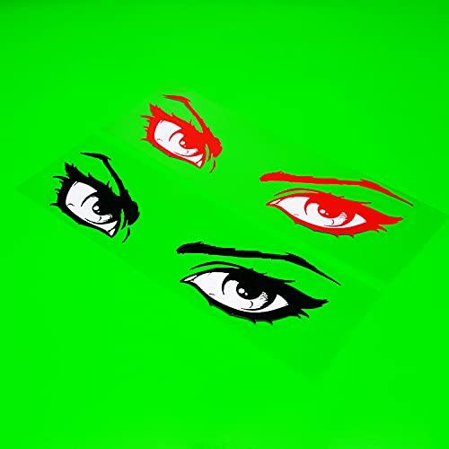 BUCUO Coche con decoración Personalizada, Motocicleta eléctrica, Ojos Reflectantes, Tótem Ocular, Calcomanía Impermeable