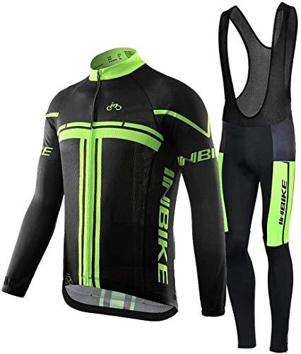 INBIKE Maillot Ciclismo Invierno Hombre 3D Acolchado Gel Ropa Térmica Ciclismo Camiseta...*