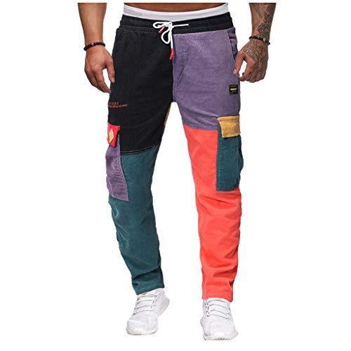 2021 Nuevo Pantalones para Hombre, Chándal de hombres Pantalones Casual Moda Deportivos Patchwork...*