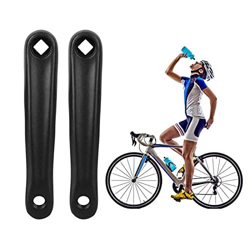 Tianher Brazo de Manivela Bicicleta, 2 Piezas Manivela de Bicicleta Aleación Aluminio Agujero de Diamante para Motor de Accionamiento Cuadrado Horizontal Montaña y Carretera 175 mm.