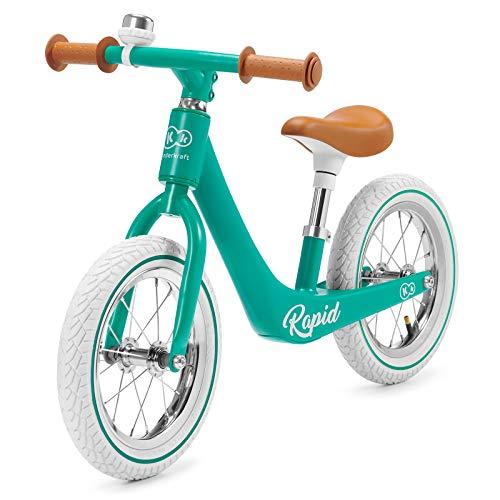 kk Kinderkraft Bicicleta sin Pedales RAPID, Sólida, Ajustable, Retro, Verde*